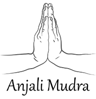 Drawing of the Anjali Mudra