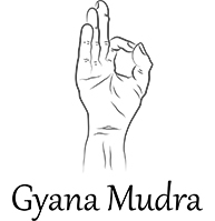 Drawing of the Gyana Mudra